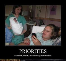Social networking humor newborn